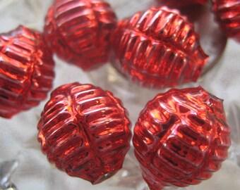 7 Glass Garland Beads Red Christmas Garland Beads Czech Republic 075R