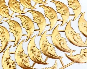 23 Germany Gold Die Cut Paper Foil Dresden Moons Man In The Moon DF7014AG