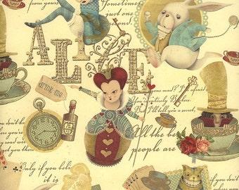 Alice in Wonderland Collage Italian Paper ~ Kartos Italy K199