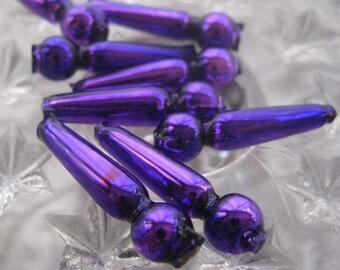 8 Glass Garland Beads Christmas Garland Purple Beads Czech Republic  050 RP