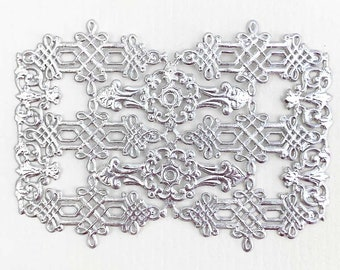 24 German Silver Dresden Foil Celtic Flourishes and Corners  DF302S x2