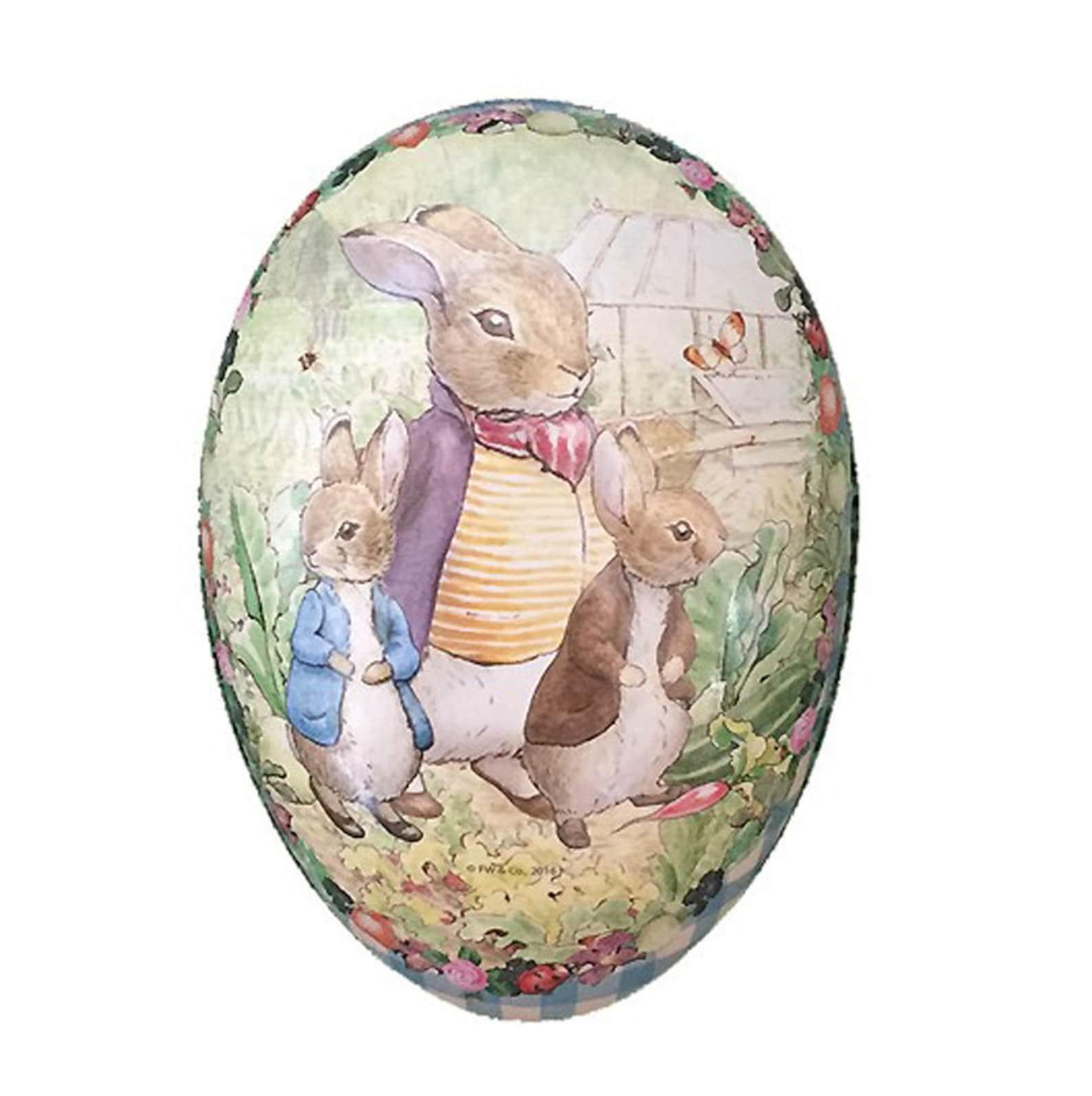 Peter Rabbit Germany Paper Mache Easter Egg Box Beatrix Potter 4-1/2