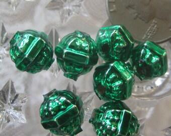7 Glass Garland Beads Christmas Garland Green Beads Czech Republic Style 034GR