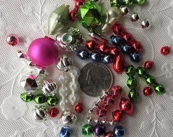 44 Glass Beads For Christmas Garlands Czech Republic  Mix KK