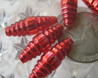 6 Glass Garland Beads Christmas Garland Red Beads Czech Republic   006 R