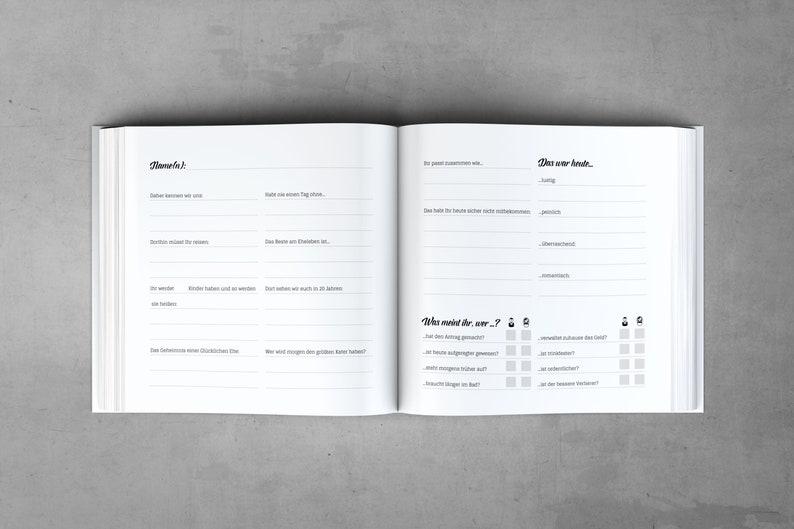 Gästebuch mit Fragen |Aquarell Lila