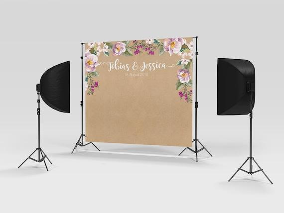 Fotobox Backdrop Hintergrund Kraft Look Flieder Etsy