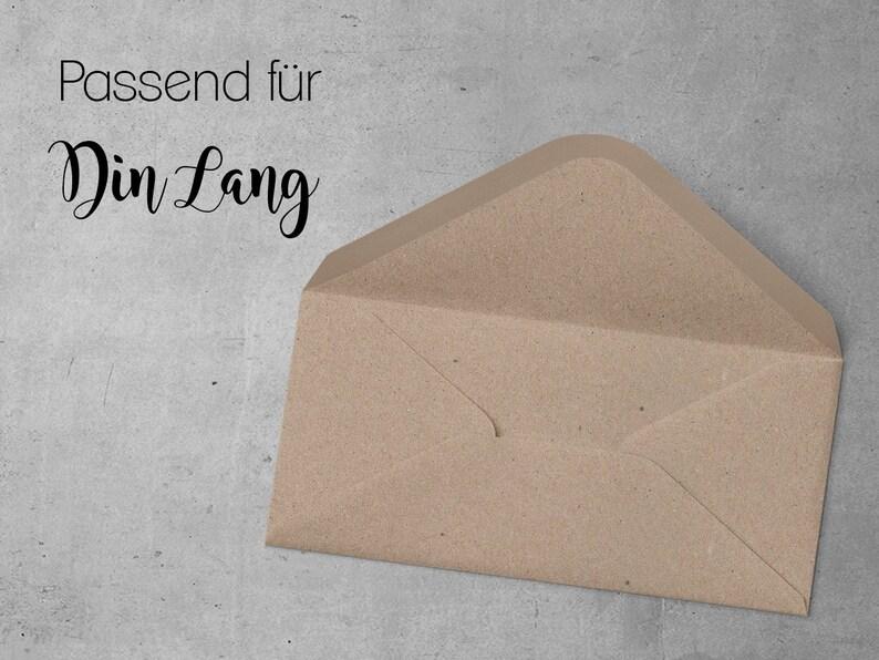 10x Envelope Wedding Boho Natural Kraft Paper Din Lang 220 X Etsy