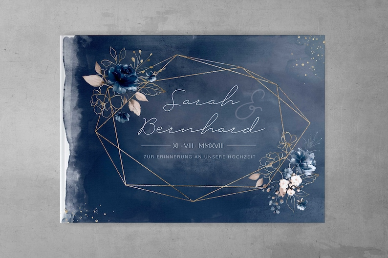 Gästebuch Hochzeit dunkelblau