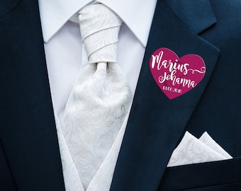 Sticker form Wedding for guests instead of badges