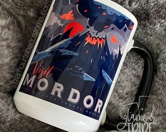 Visit Mordor coffee mug