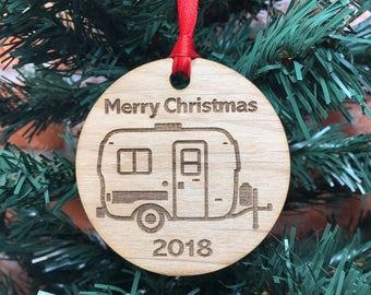2018 U-Haul Camper Ornament, Egg Travel Trailer, Glamping Ornament, Egg Rally, Glamp Camp, Caravan, Uhaul Camp, Fiberglass Camper Ornament