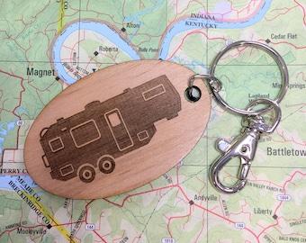 Fifth Wheel Travel Trailer Key Fob, Fifth Wheel Camping Trailer, 5th Wheel Keychain, 5th Wheel Camping Trailer, Camper Keyring, Trailer Key