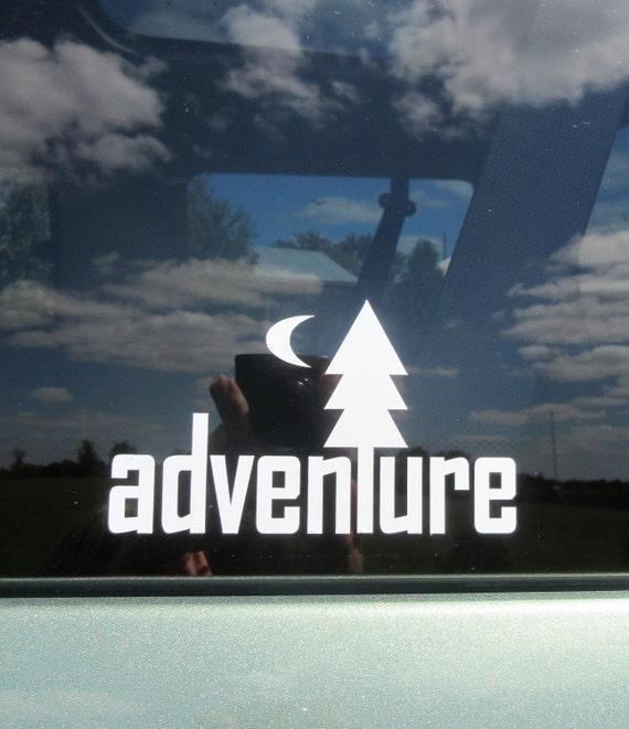 Abenteuer Vinyl Aufkleber Aufkleber Im Freien Abziehbild Etsy