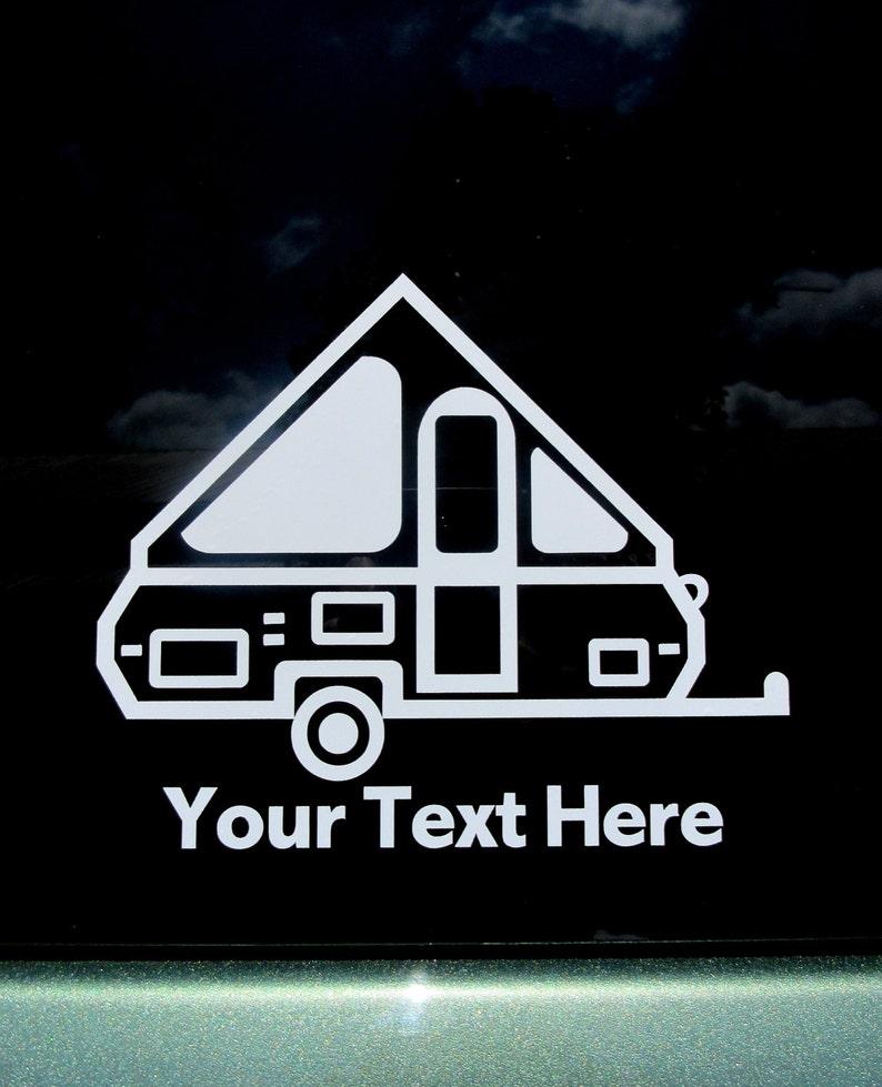 Personalized A-Frame Pop Up Camper Decal, A-Frame Car Window Sticker,  Folding Camper, Hard Shell Pop Up, A-Frame Travel Trailer, A-Frame