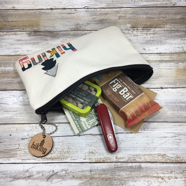 Gift for Girl Hiker Wanderlust Gift Girl Backpacker Hiking Gear Bag with matching Key Chain Outdoor Wedding Adventure Outdoors Hike