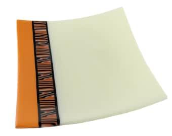 Fused Glass Plate, Safari Inspired