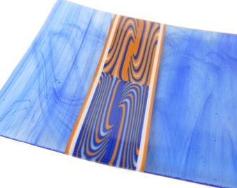 Fused Glass Tray, Earth, Sky, Wind