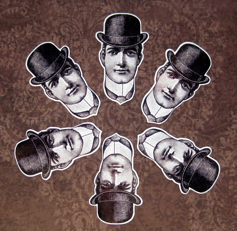 6 small Glossy paper stickers DAPPER DAN Not weatherproof for indoor use