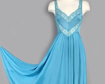 Vintage Teal OLGA Gown abf043687