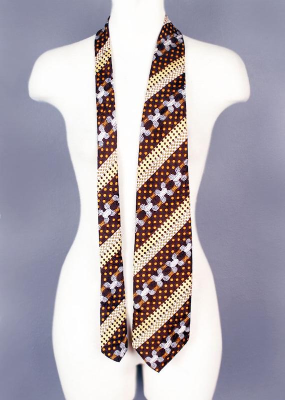 f6f6fd27f18 1970 s Oleg Cassini Designer Mens Vintage Neck Tie WIDE