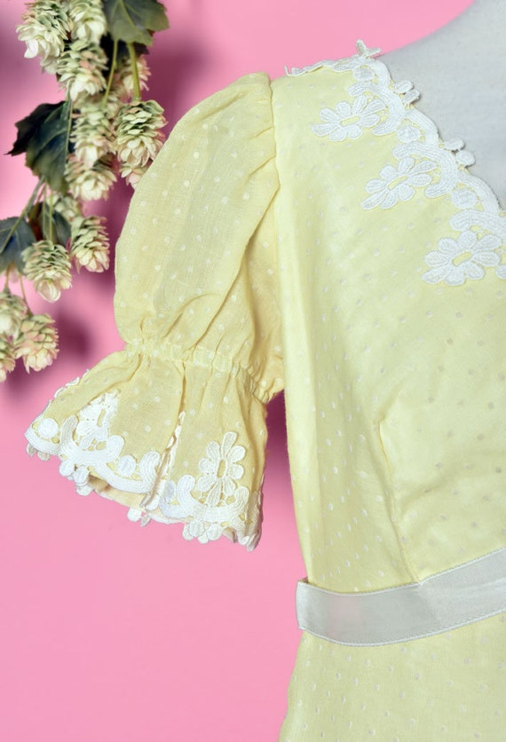 60's Yellow Baby Doll Dress, Vintage Dress, Party… - image 4