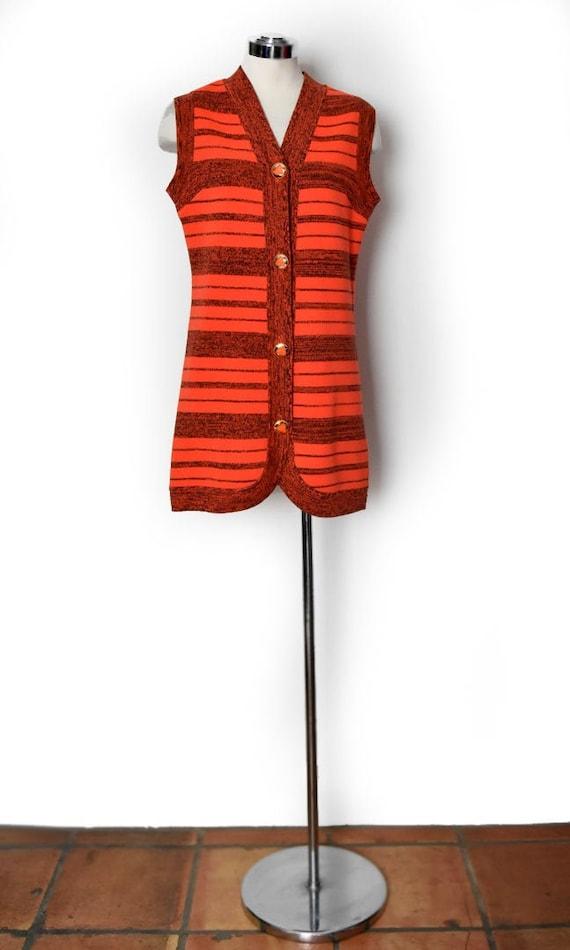 vtg Knit Dress, Vest, Italian Designer, MOD, Hippi