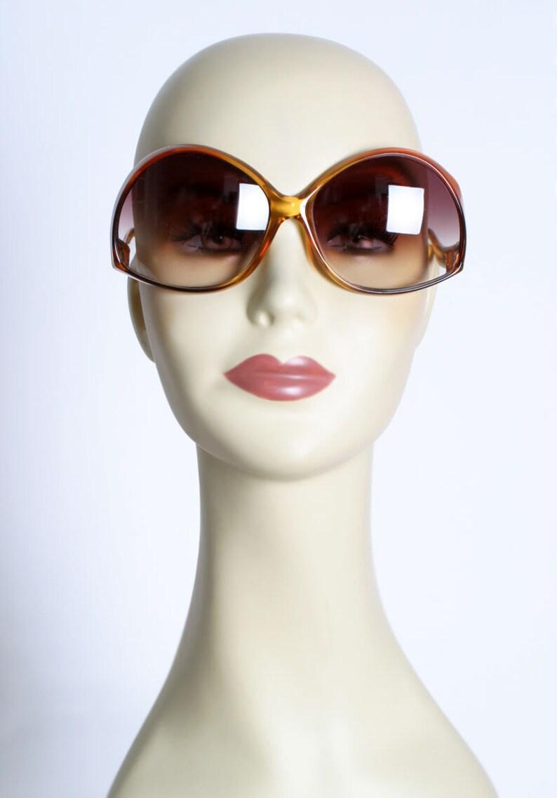5d539d3e3f11 Vintage CARRERA Sunglasses Big Round Brown tortoise shell | Etsy