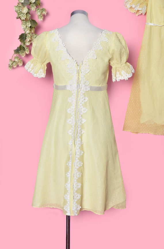 60's Yellow Baby Doll Dress, Vintage Dress, Party… - image 5