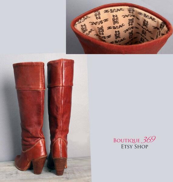 haute genou en des Pirate zodiaque ann du cuir Vintage marron BOHO xp4tcwP
