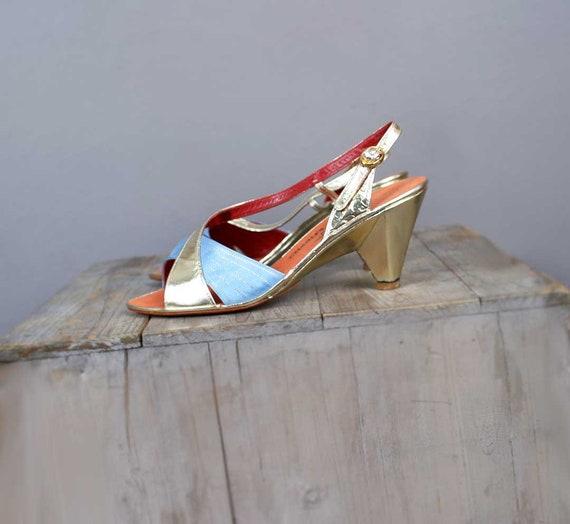 haut chaussures talon s femme 1970 Designer m ou escarpins Charles ' sandales Vintage talons cuir Jourdan Paris CqxIF