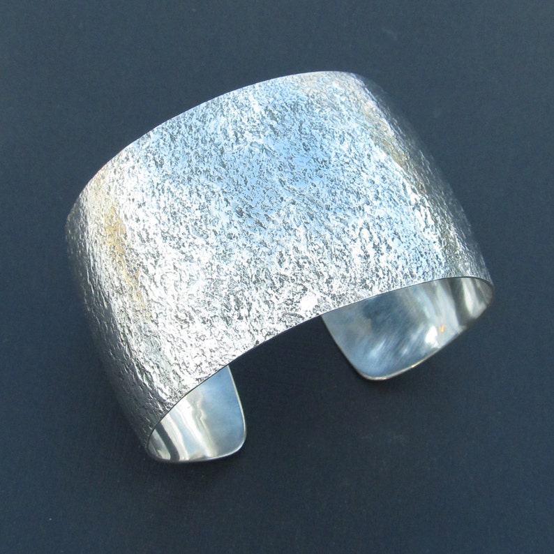 Corroded Look Sterling Bracelet Cuff