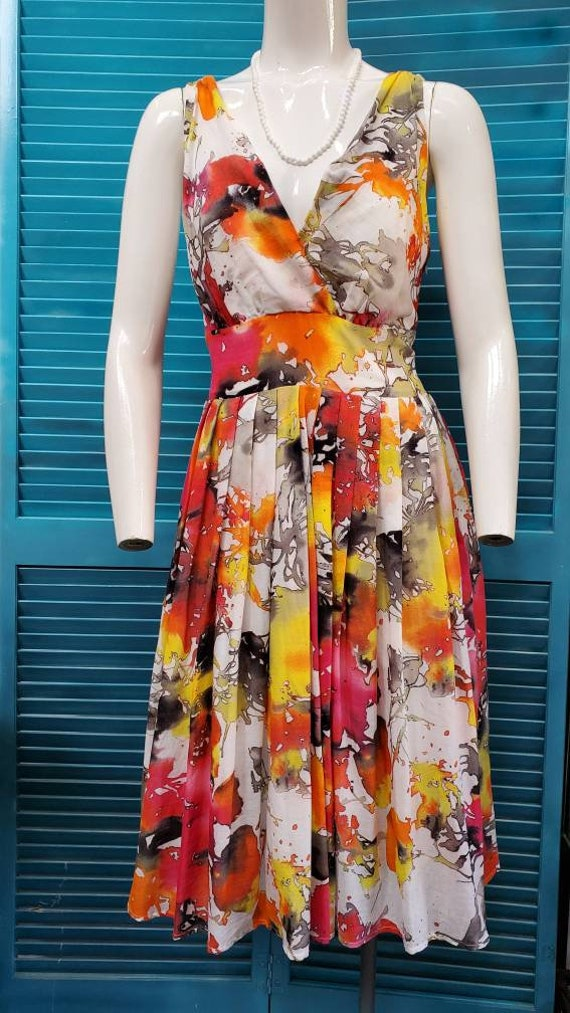 Gorgeous Tye Dye Sleeveless Swing Dress tie dye Ro