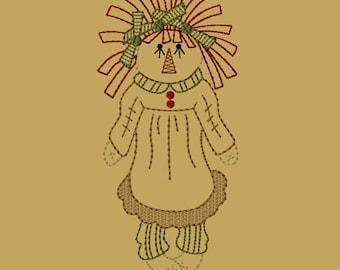 MACHINE EMBROIDERY-My Ragdoll-Single Doll-5x7-CW-Instant Download