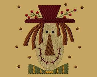 MACHINE EMBROIDERY-Scarecrow Franny-4x4-Fill-Instant Download