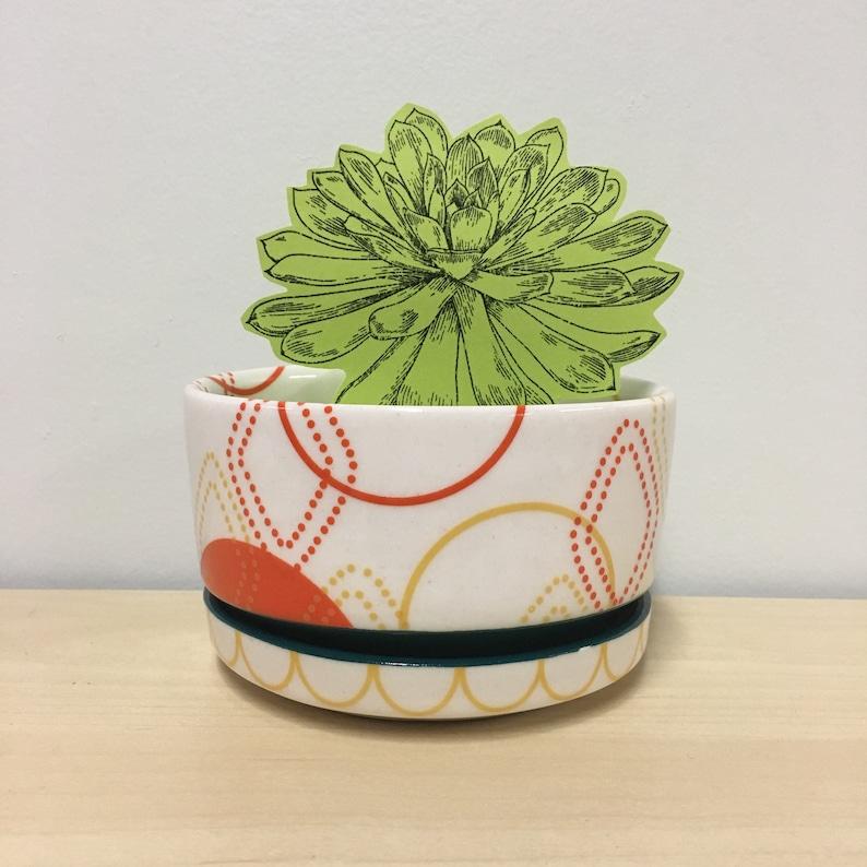 handmade porcelain planter. Meredith Host. succulent planter. image 0
