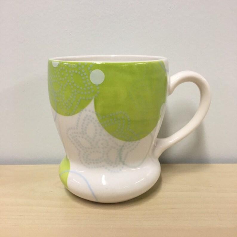 handmade porcelain mug: Dot Dot Pinwheel cup by Meredith Host image 0