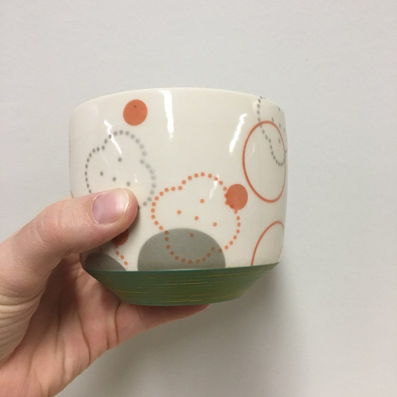 handmade porcelain juice cup. Meredith Host. cocktail cup. image 0