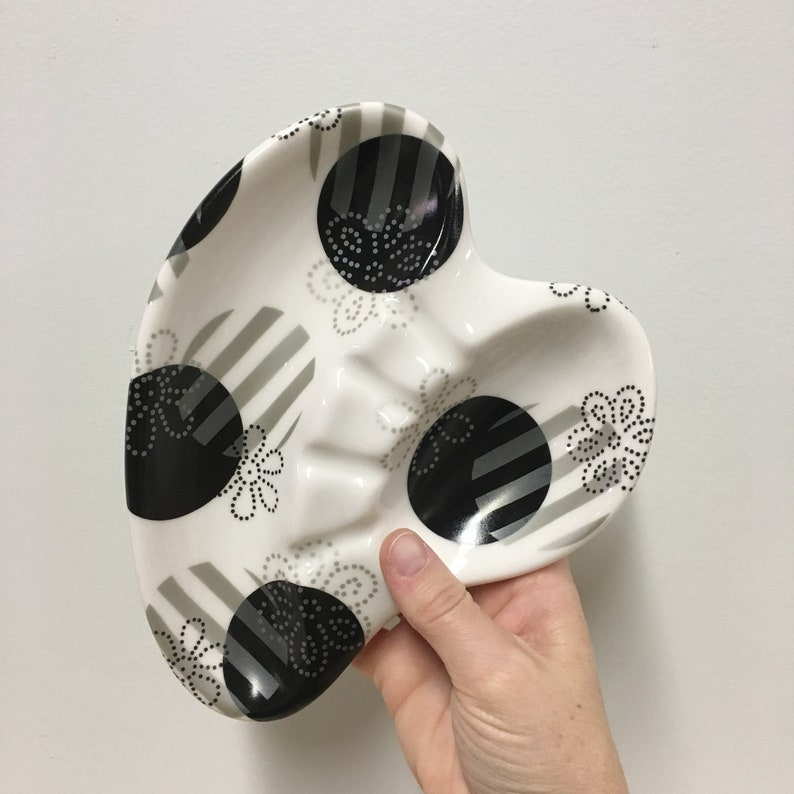 Retro Porcelain Ashtray vintage ashtray mid mod polka dots image 0