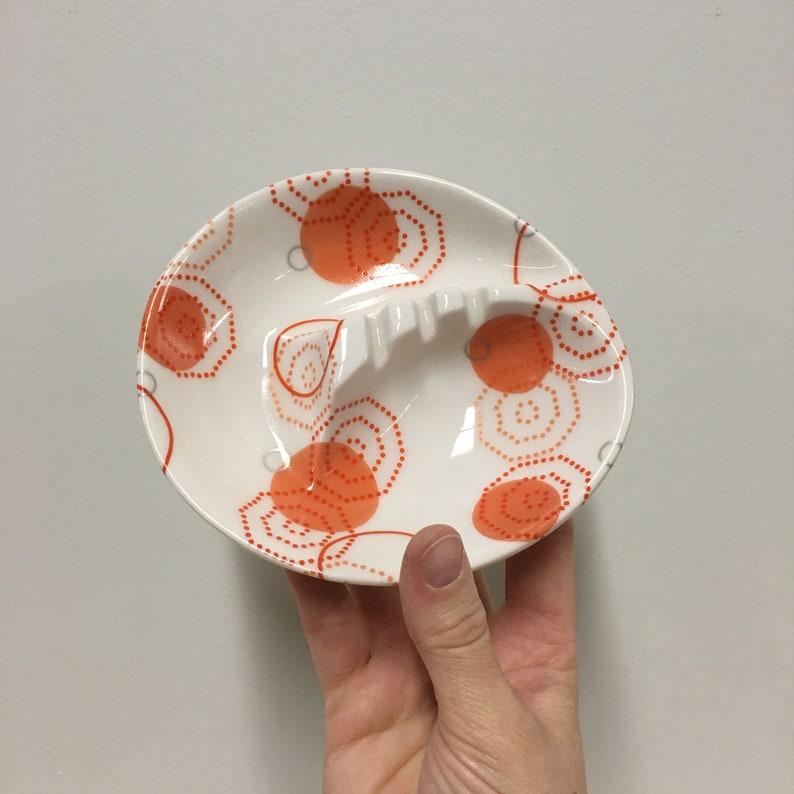 Retro Porcelain Ashtray. vintage ashtray. mid mod. smoking image 0