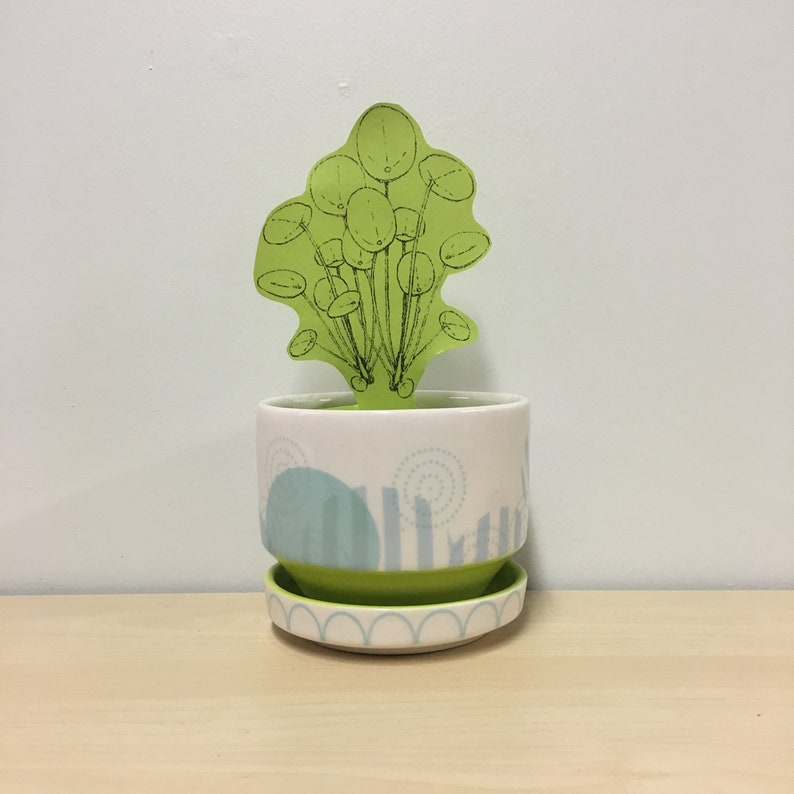 handmade porcelain planter Meredith Host modern home decor image 0