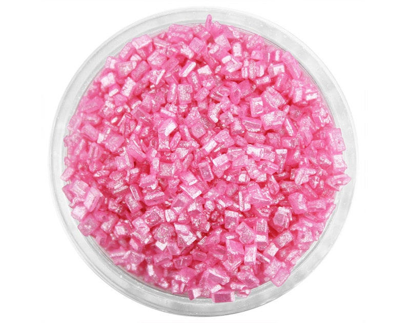 cake pops and cookies Pearly Pink Chunky Sugar cakes bright pink pearlescent sugar crystals sprinkles for decorating cupcakes