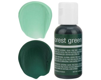 Forest Green Gel Food Coloring - Chefmaster - Forest Green Food Color, Bright Green Coloring, Green Frosting, Green Icing, Cookie Cake