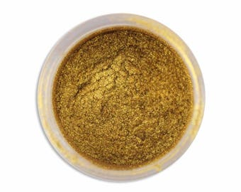 Spanish Gold Luster Dust - metallic gold dust for adding high luster sheen to gum paste, fondant, cakes, cupcakes, cookies, and cakepops