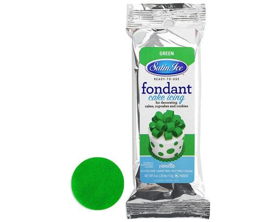 Green Satin Ice Fondant 4 oz - bright green fondant