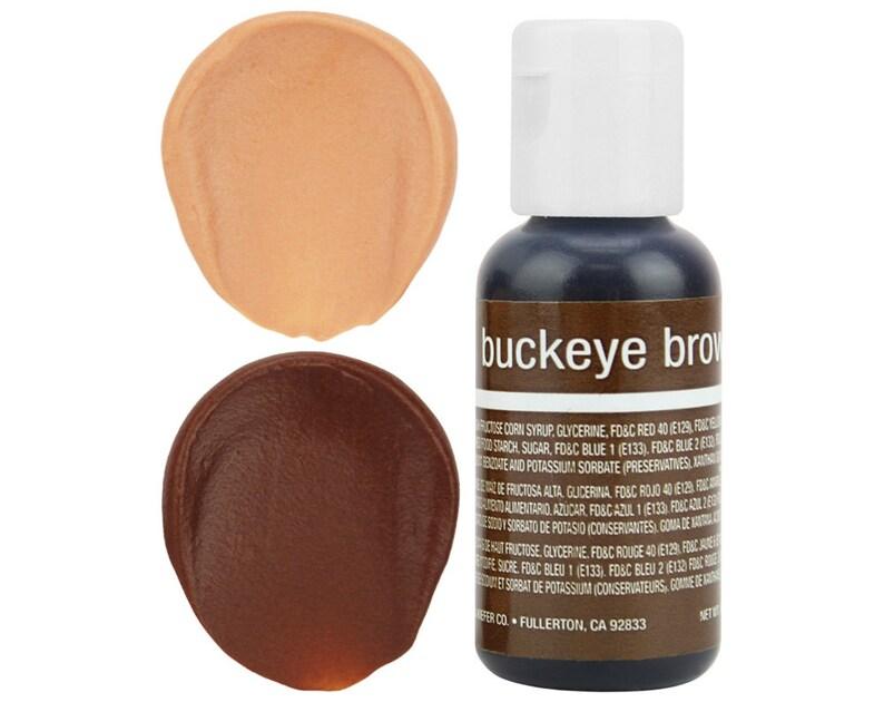 Buckeye Brown Gel Food Coloring - Chefmaster - Brown Food Color, Gel Food  Coloring, Brown Frosting, Tan Icing, Cookie Cake Decorations