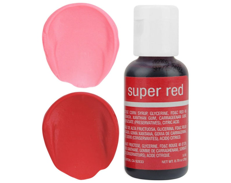 Super Red Gel Food Coloring - Chefmaster - Super Red Food Color, Bright Red  Coloring, Red Frosting, Pink Icing, Cookie Cake Decorations