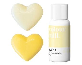 Lemon Colour Mill Oil Based Food Coloring - Lemon food coloring with superior coloring strength, achieve a wide range of colors.