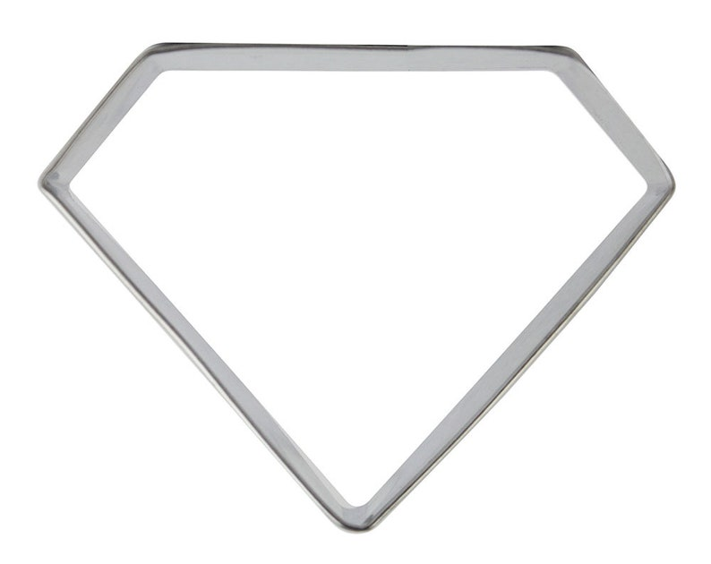 diamond cookie cutter for cookies and fondant. Gem Cookie Cutter
