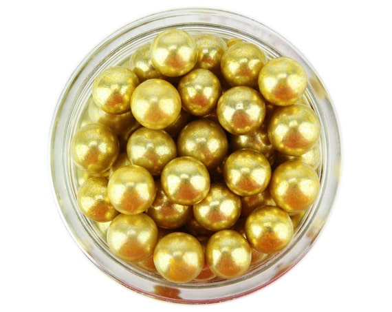 shiny metallic green sugar pearls sprinkles balls for topping cakes and cake pops cookies cupcakes 6mm Green Dragees 1oz
